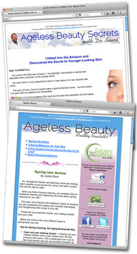 Ageless Beauty newsletters
